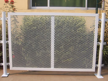 Expanded metal security partitions